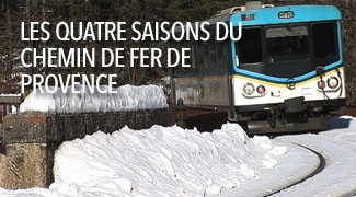 Les 4 saisons du chemin de fer de Provence